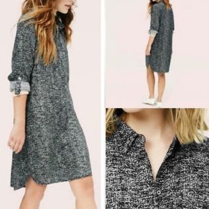 Lou & Grey Black white speckled tunic dress medium
